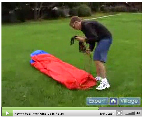 How to pack your wing up in  Paragliding