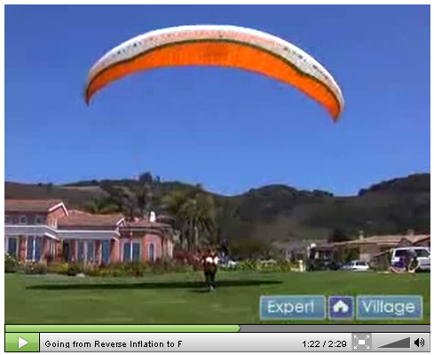 Going from Reverse Inflation to Forward Launch and Forward Kiting in Paragliding